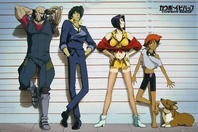 COWBOY BEBOP ~ CAST IN LINE UP ~ 24x36 ANIME/MANGA POSTER ~ NEW/ROLLED~