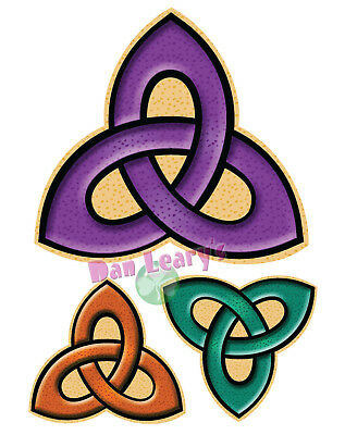 Celtic Trinity Knot (3pc.) Sticker Irish Ireland Auto