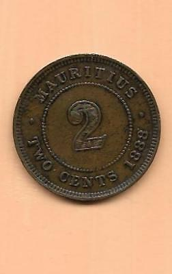 1888 Mauritius Two Cents