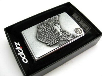 ZIPPO Street Chrome HARLEY-DAVIDSON Full Face Emblem Windproof Lighter! 20230