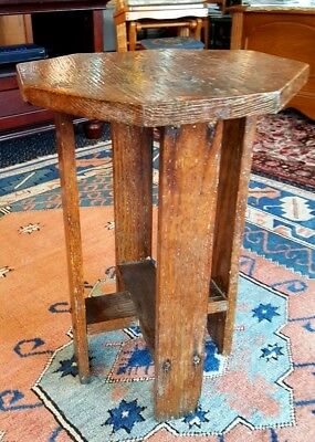 Arts and Crafts Quarterswn Oak Mission Side Plant Stand Table 13 x 18 inches