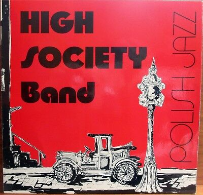 Lp -  High Society Band =  Polish Jazz  (Signed On Backside !)