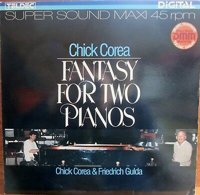Maxi-Single  -  Chick Corea & Friedrich Gulda  = Fantasy For Two Pianos ....1983