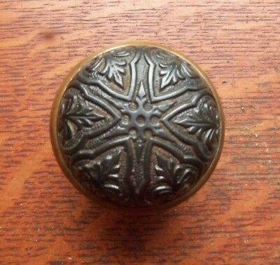 "Antique Fancy Cast Iron & Brass  Doorknob by Branford ""Star"" c1886"