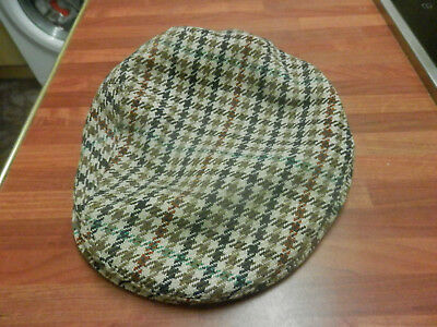 Vintage Dunn & Co  'The Rutland County ' Tweed Cap size 57/7 great condition