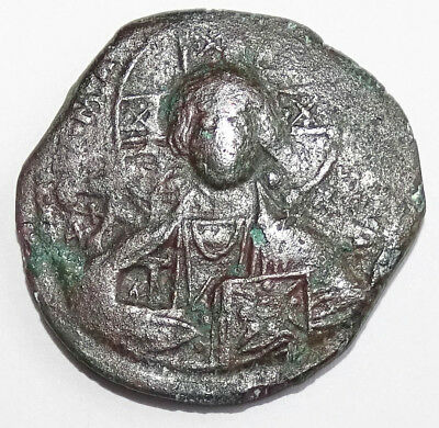 LOT#490 Basil II & Constantine VIII. (bust of Christ ) Ancient Byzantine coin.