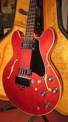 Vintage 1966 Gibson EB-2D Hollowbody Electric Bass Cherry Red W/ Original Case