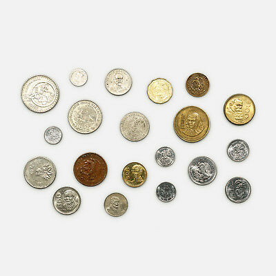 20 different types Mexico coins circulated- uncirculated