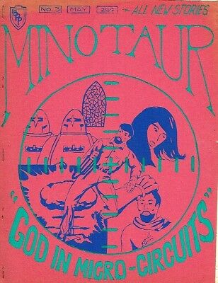 kd Fanzine MINOTAUR #3, May 1969, 40 pages, Blue Plaque Publications