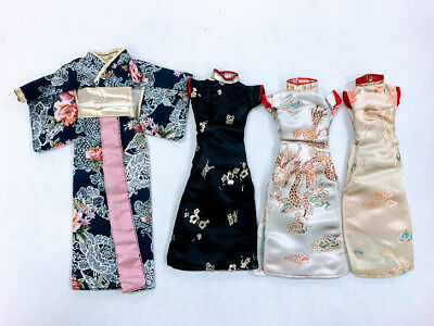 Barbie Asian Gown Lot Kimono Cheongsam