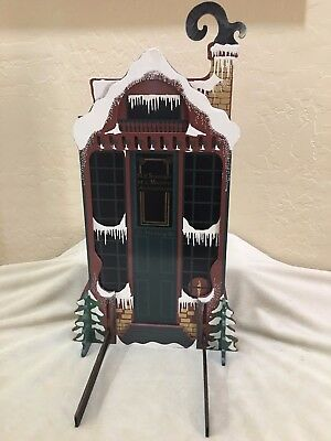 Byers Choice Carolers Building Facade 'SCROOGE & MARLEY' signed by Shelia 1992
