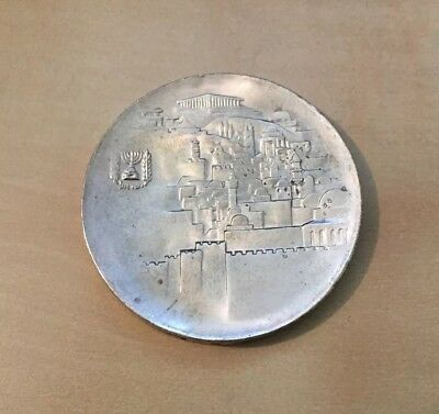 1968 Israel 20th Anniversary Silver 10 Lirot Coin BU Uncirculated in Case
