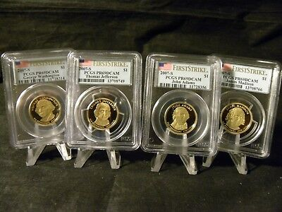 2007 S Proof Presidential Dollar Set PCGS Proof 69 DCAM First Strike
