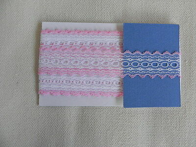 Card of New Knit Lace - White and Pink