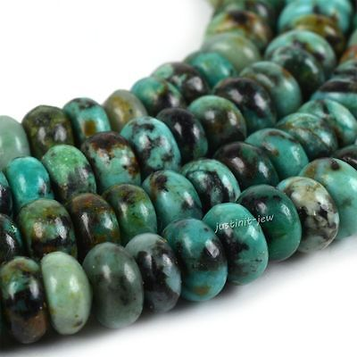 0118 4mm African turquoise heishi rondelle loose gemstone beads 16""