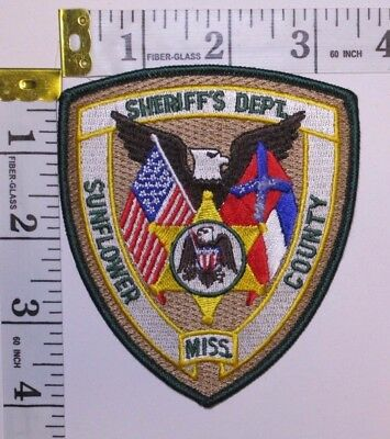 Sunflower County Mississippi Sheriffs Department Shoulder Patch