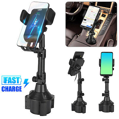 Fast Qi Wireless Car Charger Dashboard Mount Holder for Samsung S9/S8 iPhone X 8