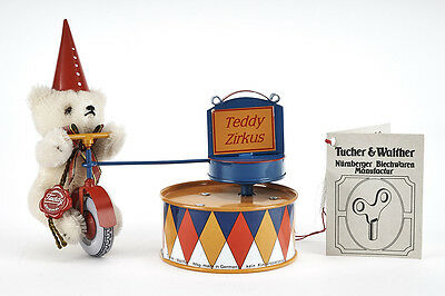 Lot 170403 Tucher u. Walther T 309 Spieluhr Clown-Bär mit Hermann Teddy - RARE