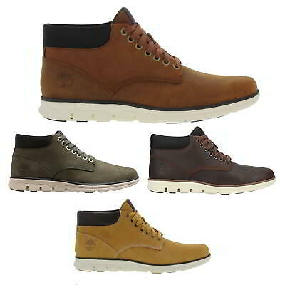 Timberland Bradstreet Chukka Boots Mens Leather Brown Yellow Ankle Boots 7-11