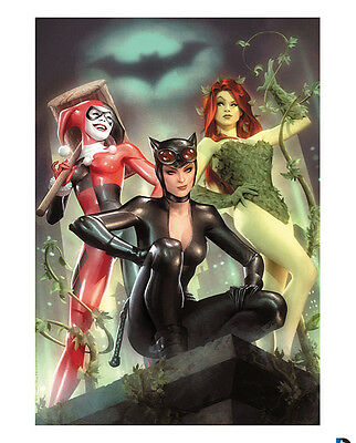 Alex Garner SIGNED Sideshow EXCLUSIVE Gotham City Sirens Art Print Harley Quinn