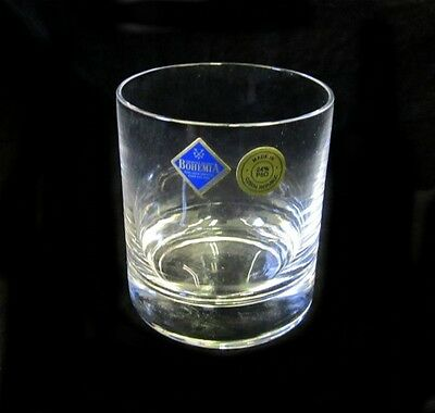 New Boxed Set 6 Bohemia Full Lead Crystal Whiskey Tumblers / Glasses Ideal Xmas