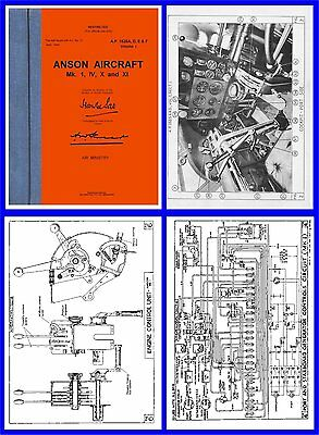 Avro Anson Operation Manual - RAAF / RAF AP1525 on CD