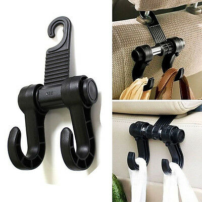Universal Car Truck Suv Seat Back Hanger Organizer Black Hook Headrest Holder @