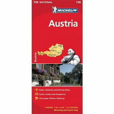 Austria Michelin National Map 730 Motoring and Tourist