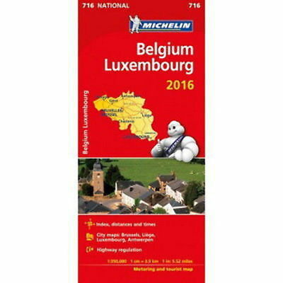 Belgium Luxembourg Michelin National Map 716 Motoring and Tourist 2016