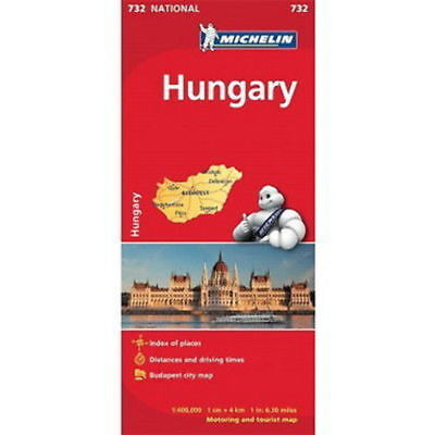 Hungary Michelin National Map 732 Motoring and Tourist