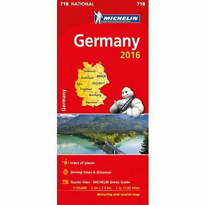 Germany Michelin National Map 718 Motoring and Tourist