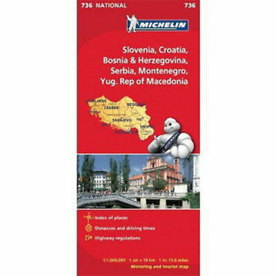 Slovenia Croatia Bosnia Serbia Michelin National Map 736 Motoring and Tourist