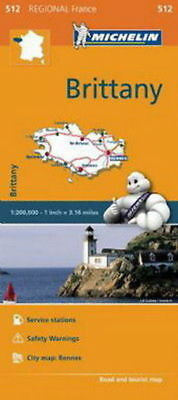 Michelin Map 512 Brittany France Regional