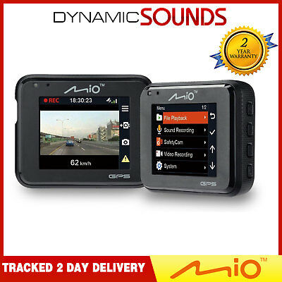 Mio MiVue C330 Full HD 1080P Dash Cam Driving Recorder with Safety Cameras GPS