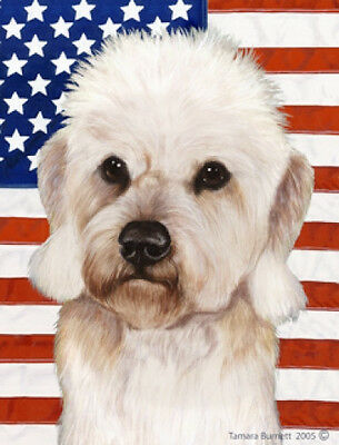 Large Indoor/Outdoor Patriotic II Flag - Mustard Dandie Dinmont Terrier 32210