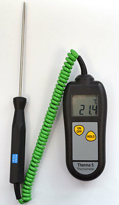 Therma 5 Digital Thermometer complete with General Purpose Penetration Probe