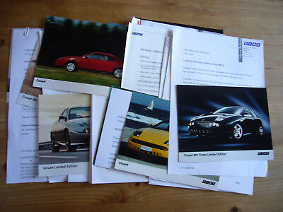 Fiat Coupe 20V & Turbo: job lot of press releases & photos, 1995-98, excellent