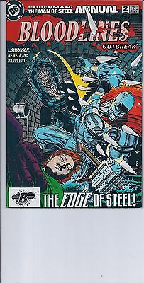 Superman: The Man Of Steel Annual # 2  Bloodlines  1993