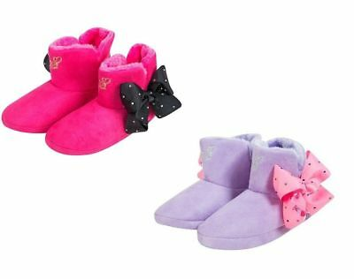 JoJo Siwa Bows Bow Signature Collection Girls Kids Soft Bootie Slippers Boots