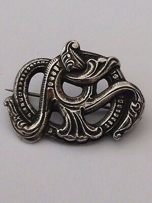Silver Rare H.moller Norway Mythical Beast Brooch Fantastic