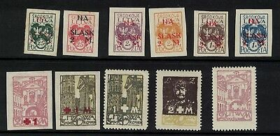 Lithuania stamps 1920 - overprints LH - central Lithuania - mint 'LITWA'
