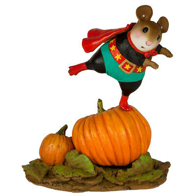MIGHTY MOUSEY by Wee Forest Folk,  WFF# M-615b, Super Hero Mouse from 2017