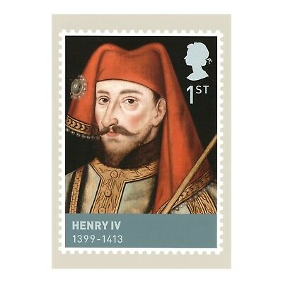 Henry Iv - Houses Of Lancaster & York Kings & Queens Phq 308 Royal Mail Postcard