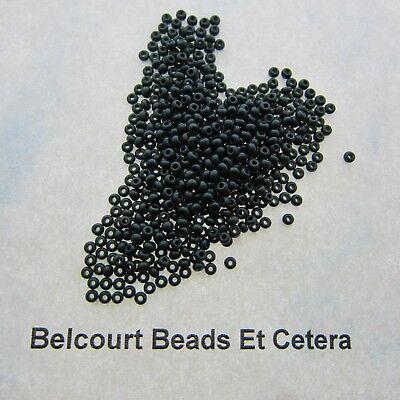 25 Grams Green Dark Opaque Size 10/0 Czech Glass Preciosa Seed Beads