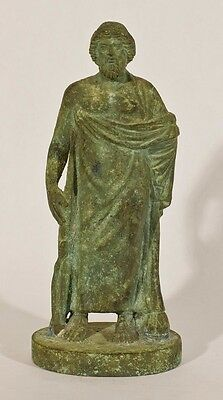 Classical style Bronze figure of a Greek God Asklepios