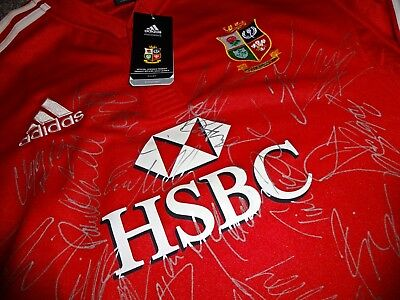 Hand Signed British And Irish Lions Shirt 2009 Bnwt 'south Africa' Tour Squad