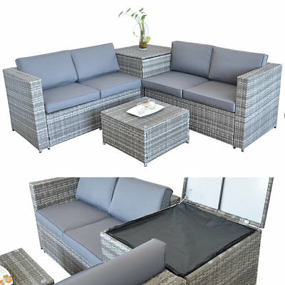 xxl poly rattan garten lounge gartenset braun garnitur gartenm bel polyrattan eur 399 90. Black Bedroom Furniture Sets. Home Design Ideas