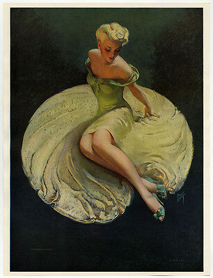 Roy Best TDM Pin-Up Print 1940s Art Deco for Your Approval Leggy Glamour Girl NR