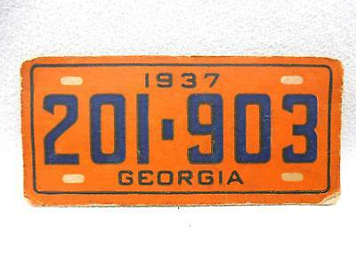 1937 GOUDEY GUM LICENSE PLATE TRADING CARD Advertising Give Away GEORGIA