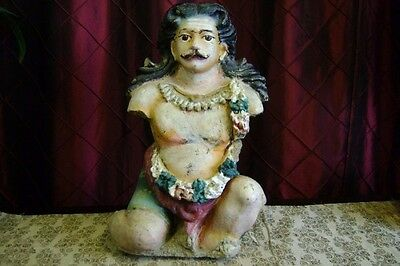 Hindu stucco statue of Krishna's father Vasudeva  (ups pack n ship  )